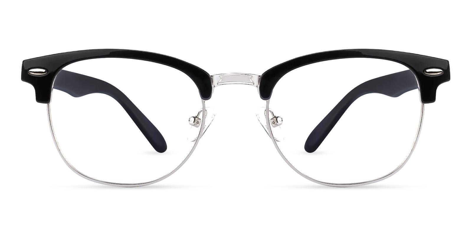 Greeley Black Metal Eyeglasses , NosePads Frames from ABBE Glasses