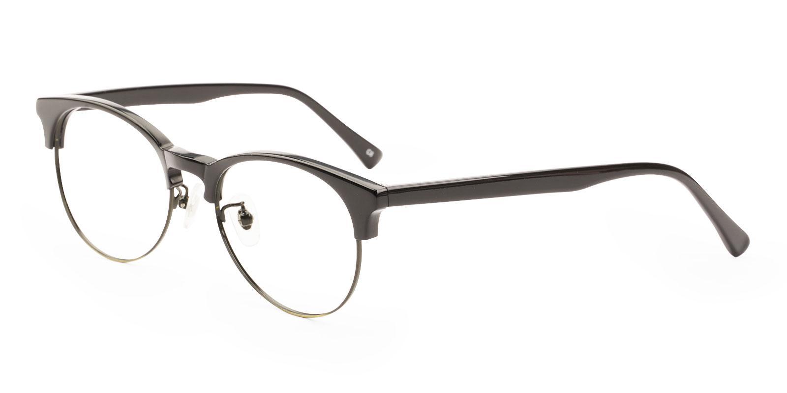 Luna Black Metal , Combination , TR Eyeglasses , NosePads Frames from ABBE Glasses