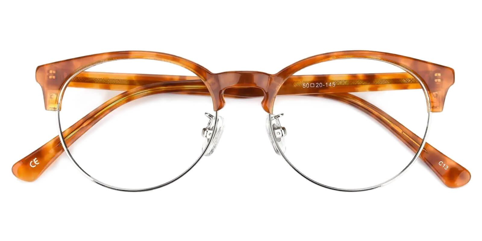 Luna Brown Metal , Combination , TR Eyeglasses , NosePads Frames from ABBE Glasses