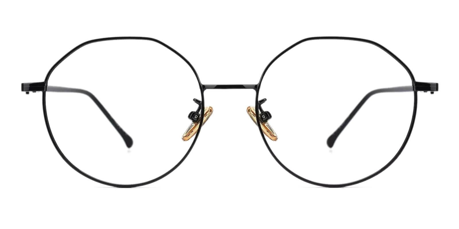Kawk Black Metal Eyeglasses , NosePads Frames from ABBE Glasses
