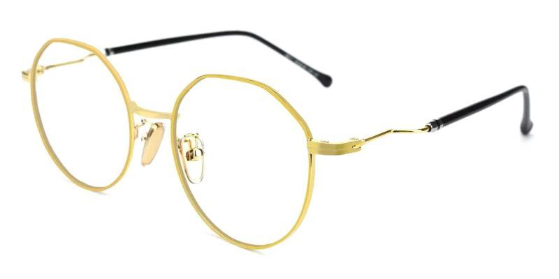 Gold Kawk - Metal Eyeglasses , NosePads
