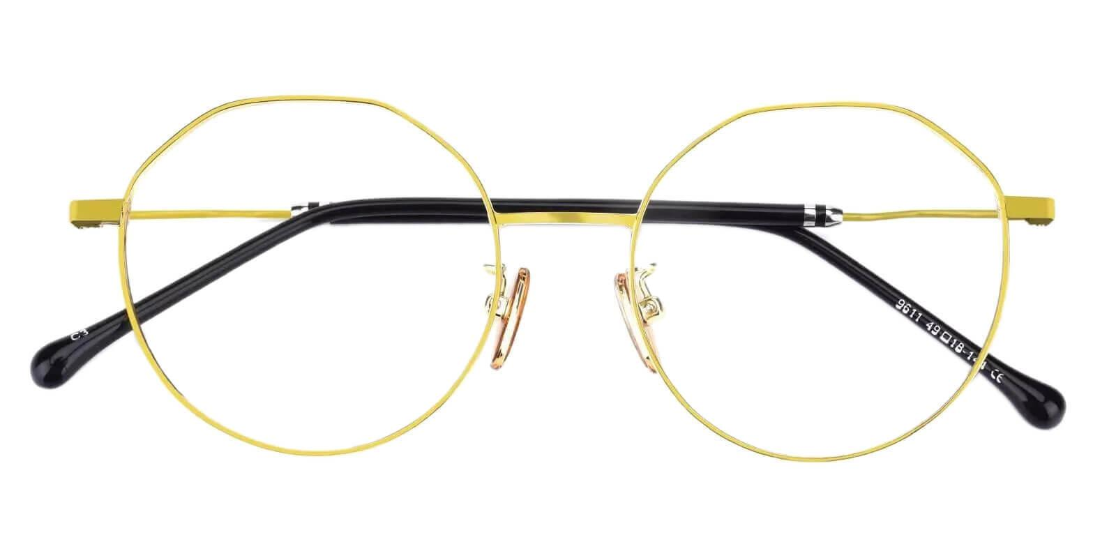 Kawk Gold Metal Eyeglasses , NosePads Frames from ABBE Glasses