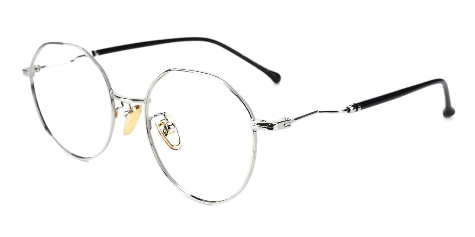 Kawk Silver Metal Eyeglasses , NosePads Frames from ABBE Glasses