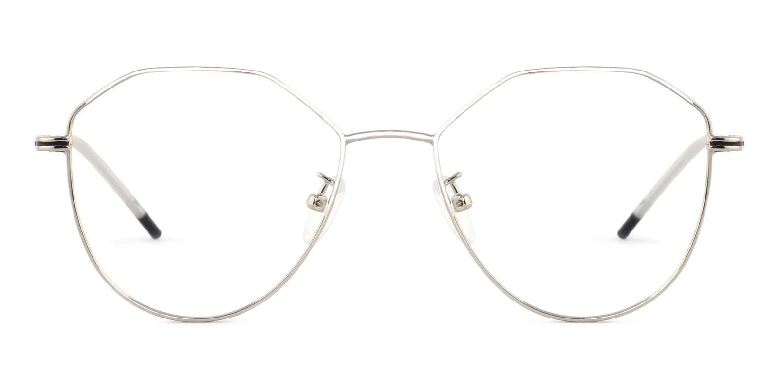 Layla Silver Metal Lightweight , NosePads , Eyeglasses Frames from ABBE Glasses