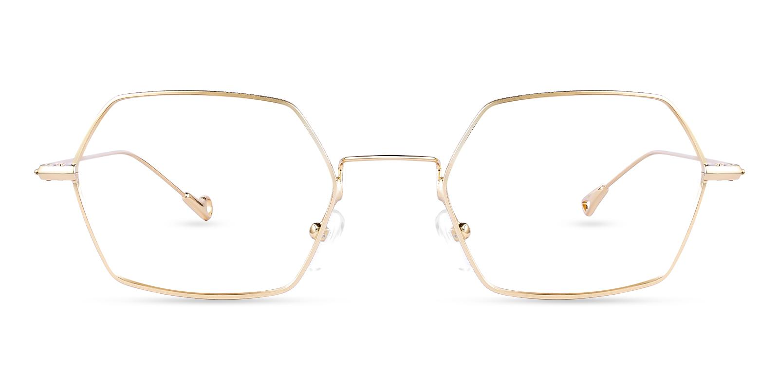 Crystal Gold Metal Eyeglasses , NosePads Frames from ABBE Glasses