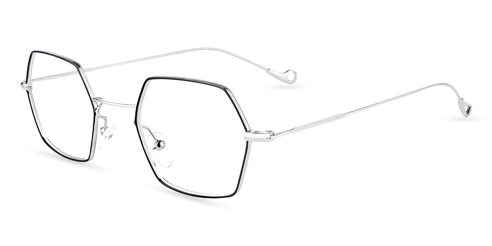 Crystal Multicolor Metal Eyeglasses , NosePads Frames from ABBE Glasses