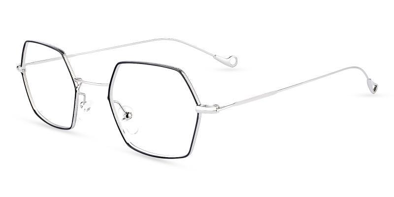 Multicolor Crystal - Metal Eyeglasses , NosePads