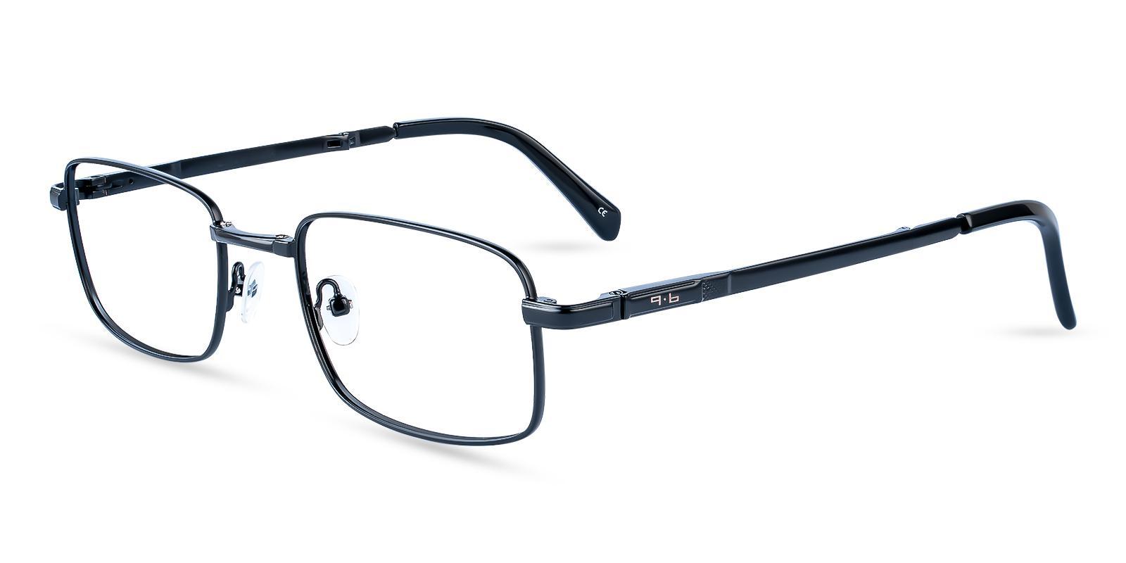 Sebastian Black Metal Eyeglasses , Foldable , NosePads Frames from ABBE Glasses