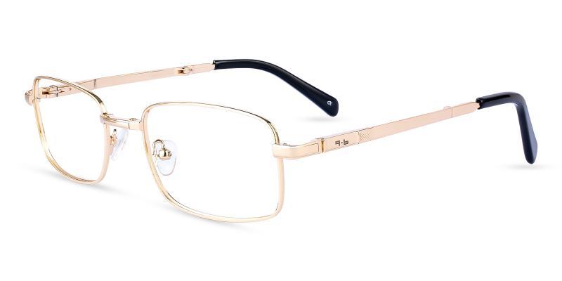 Gold Sebastian - Metal NosePads , Eyeglasses , Foldable