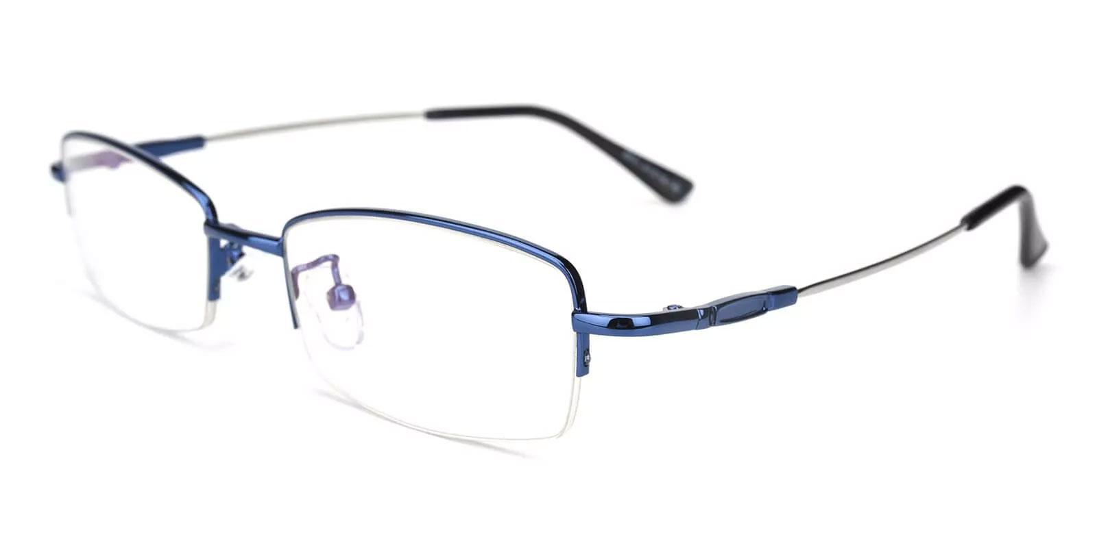 Benjamin Blue Metal Eyeglasses , NosePads Frames from ABBE Glasses