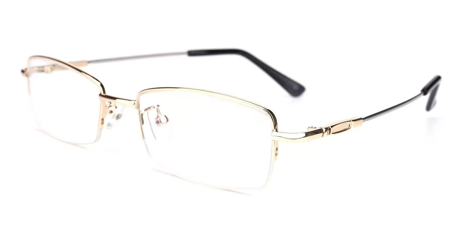 Benjamin Gold Metal Eyeglasses , NosePads Frames from ABBE Glasses