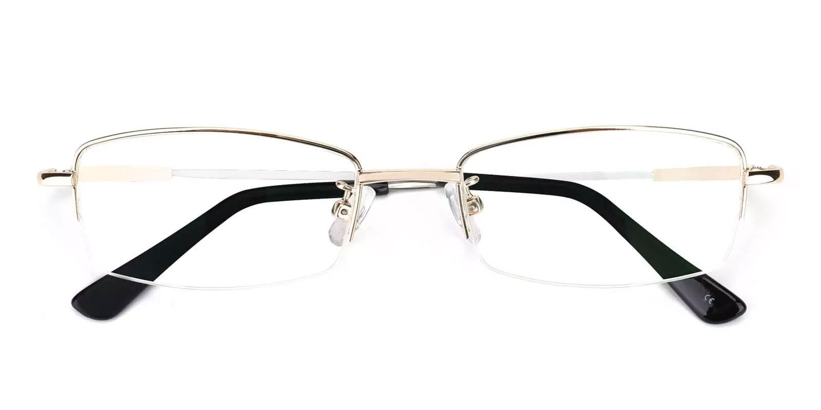 Benjamin Gold Metal Eyeglasses , NosePads Frames from ABBE Glasses