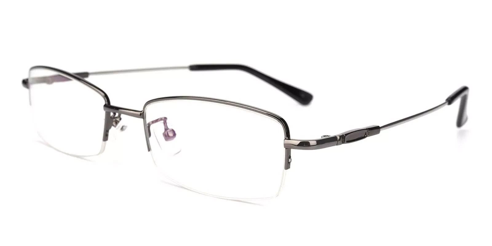 Benjamin Gun Metal Eyeglasses , NosePads Frames from ABBE Glasses