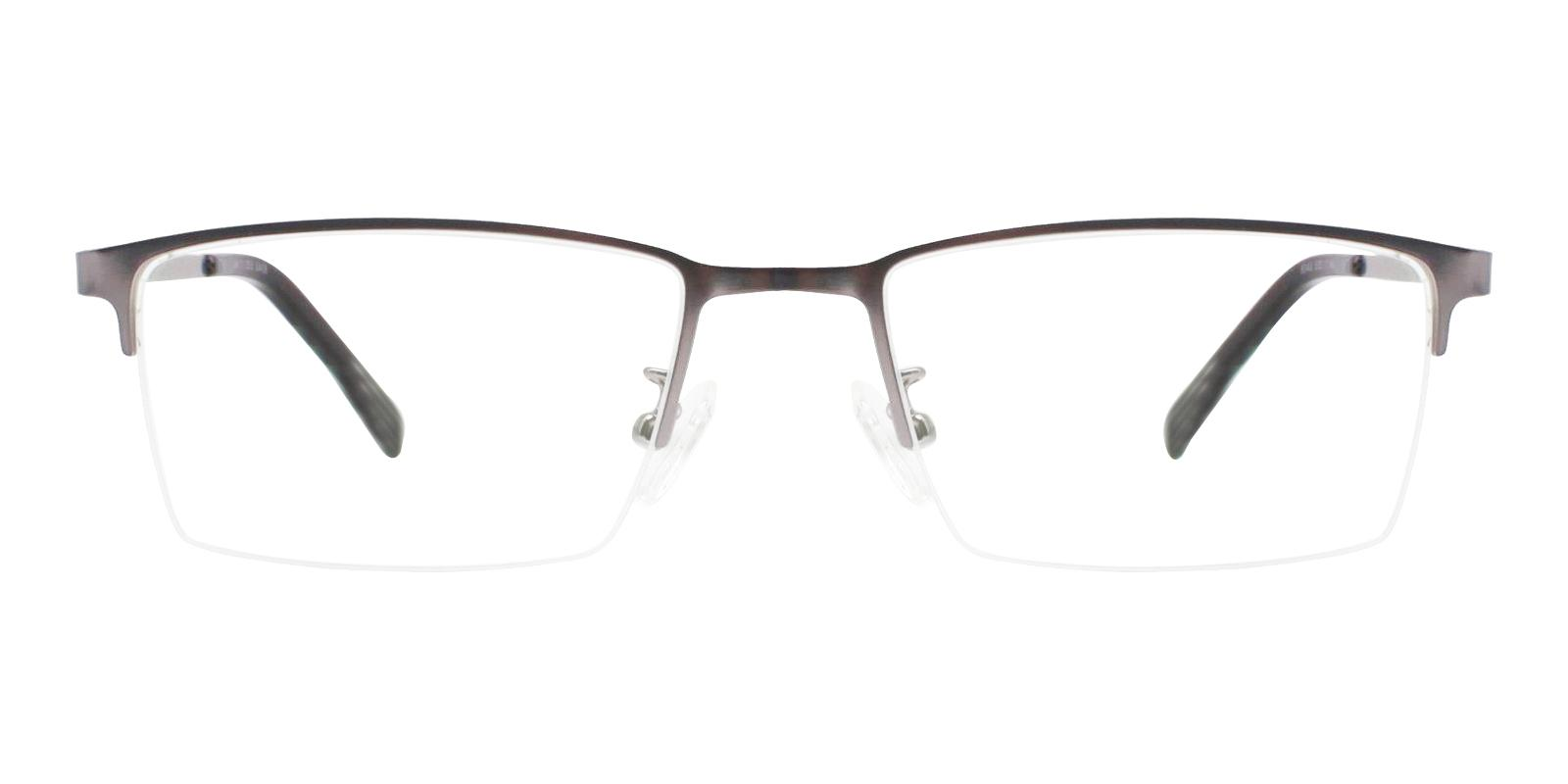 Alexander Gun Metal Eyeglasses , NosePads Frames from ABBE Glasses