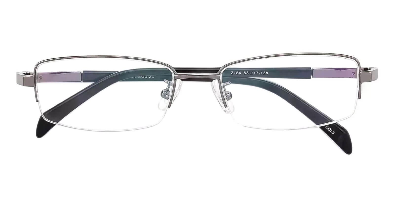 Michael Gun Metal SpringHinges , Eyeglasses , NosePads Frames from ABBE Glasses