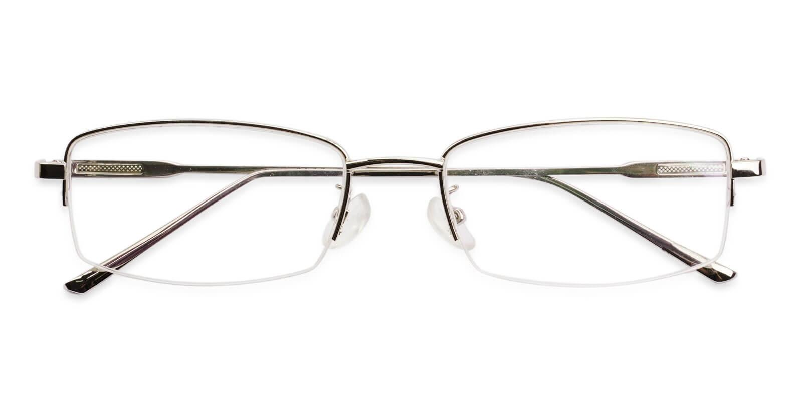 Jacob Silver Metal Eyeglasses , NosePads Frames from ABBE Glasses