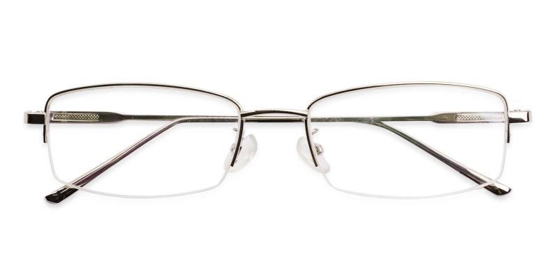 Silver Jacob - Metal Eyeglasses , NosePads