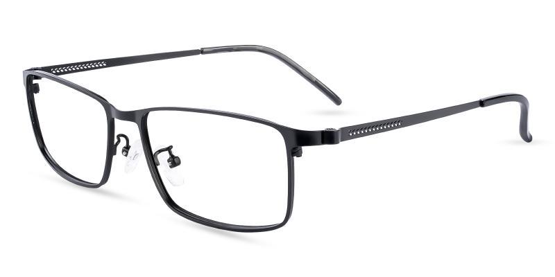 Black Daniel - Metal Eyeglasses , NosePads