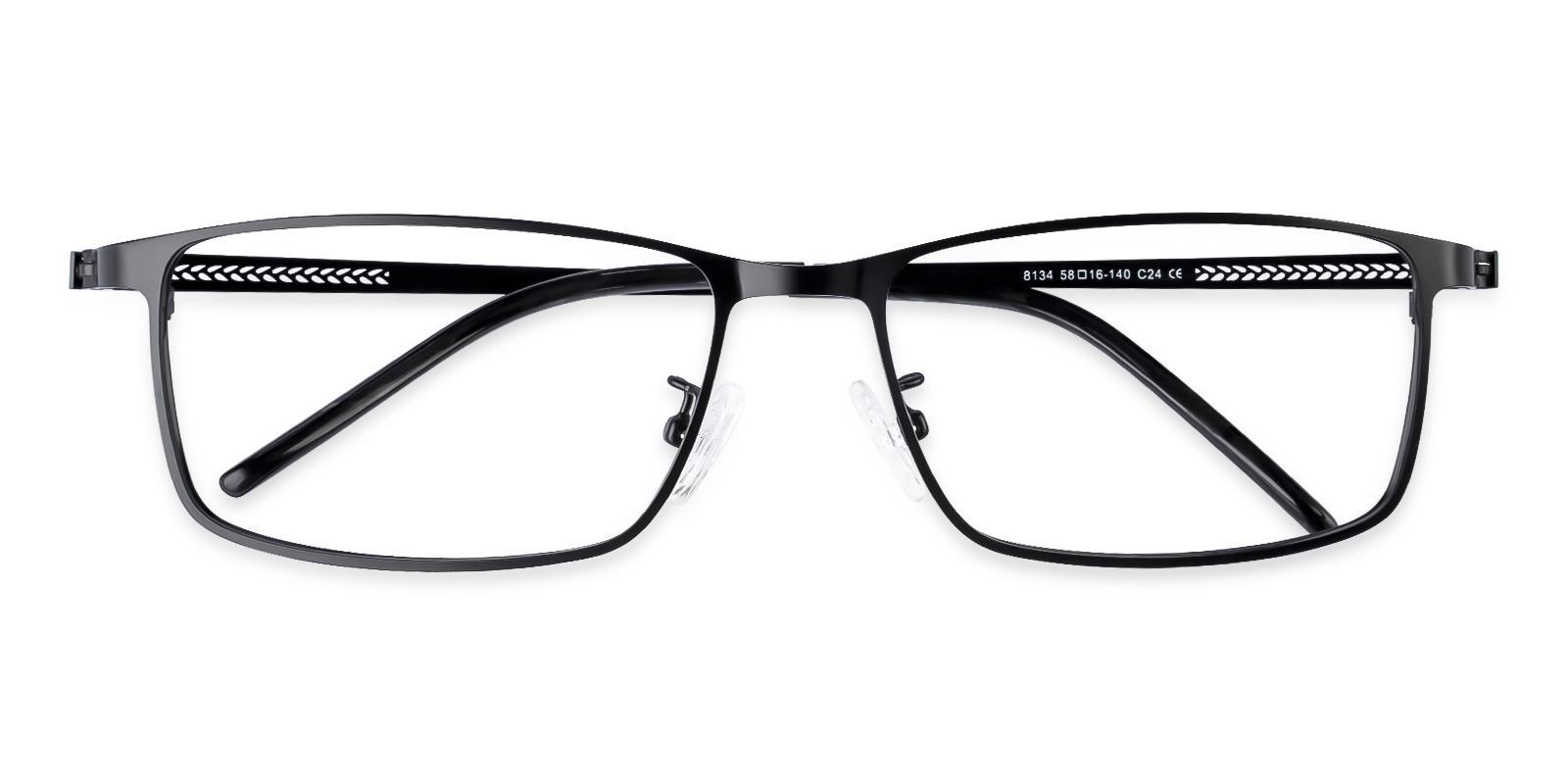 Daniel Black Metal Eyeglasses , NosePads Frames from ABBE Glasses