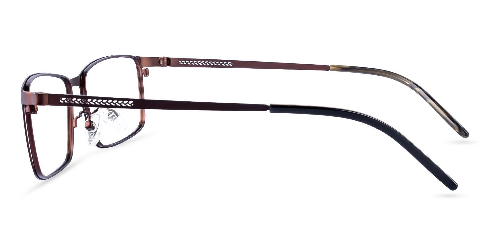 Daniel Brown Metal Eyeglasses , NosePads Frames from ABBE Glasses