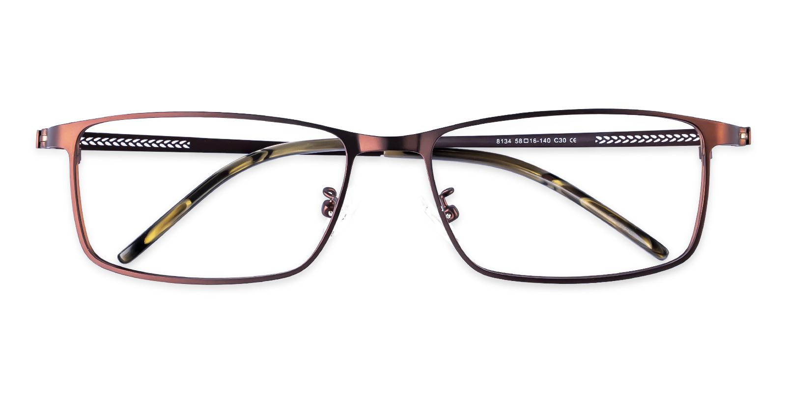 Daniel Brown Metal Eyeglasses , NosePads Frames from ABBE Glasses