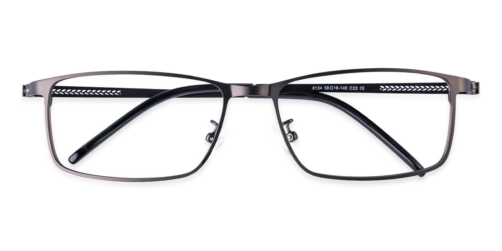 Daniel Gun Metal Eyeglasses , NosePads Frames from ABBE Glasses