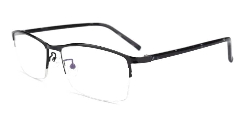 Black William - Metal Eyeglasses , NosePads