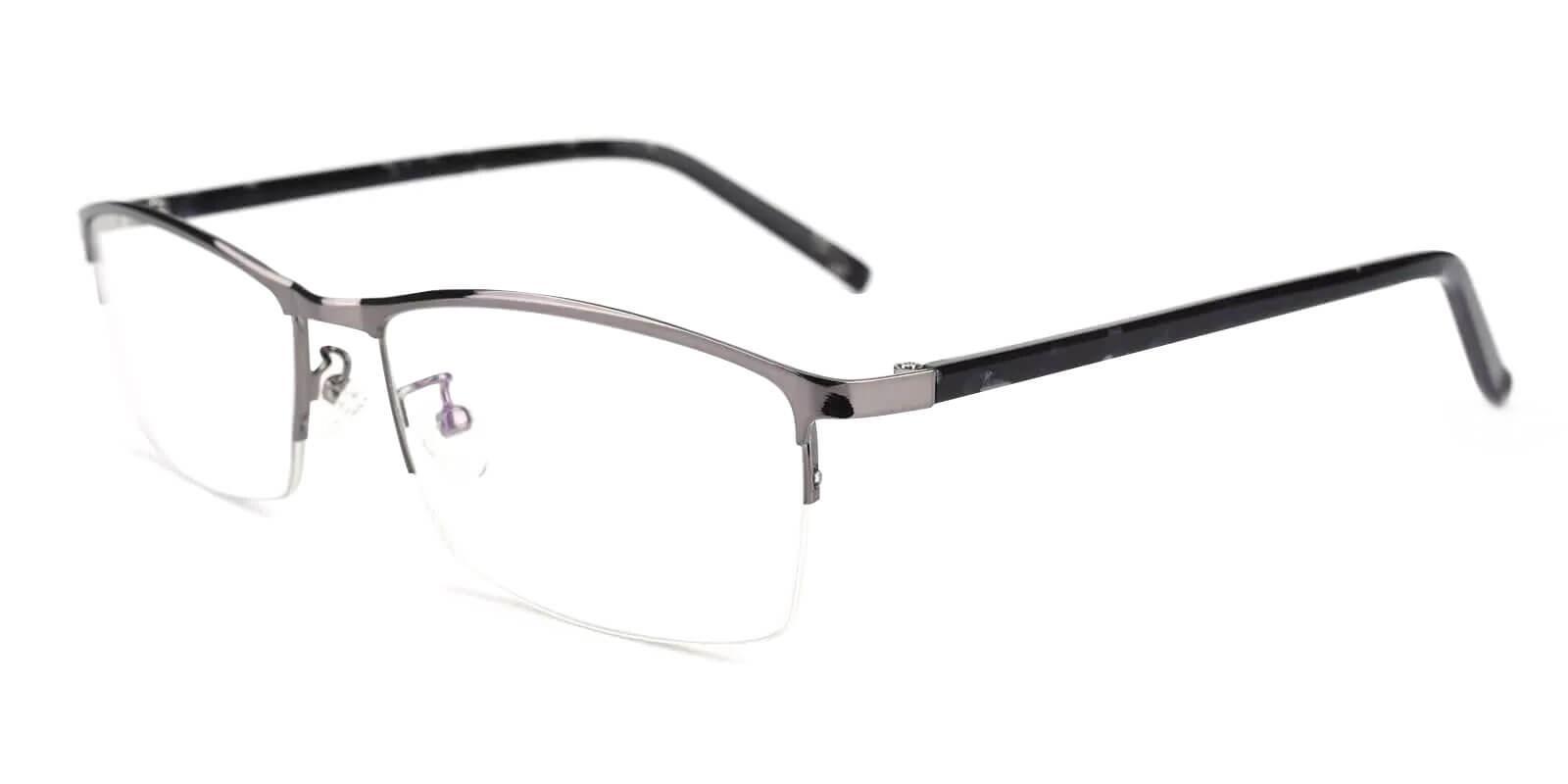 William Gun Metal Eyeglasses , NosePads Frames from ABBE Glasses