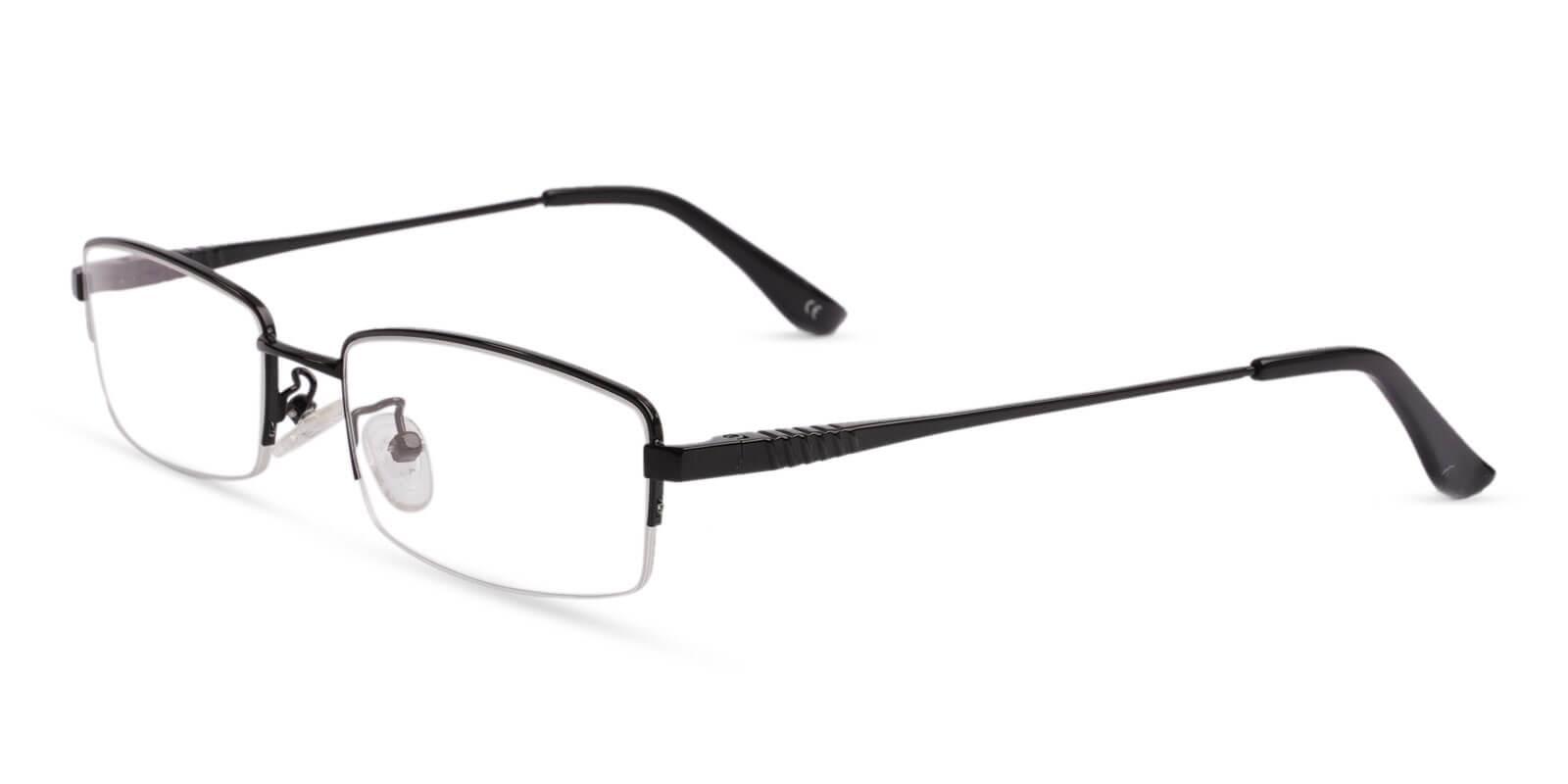Grayson Black Metal Eyeglasses , NosePads , SpringHinges Frames from ABBE Glasses
