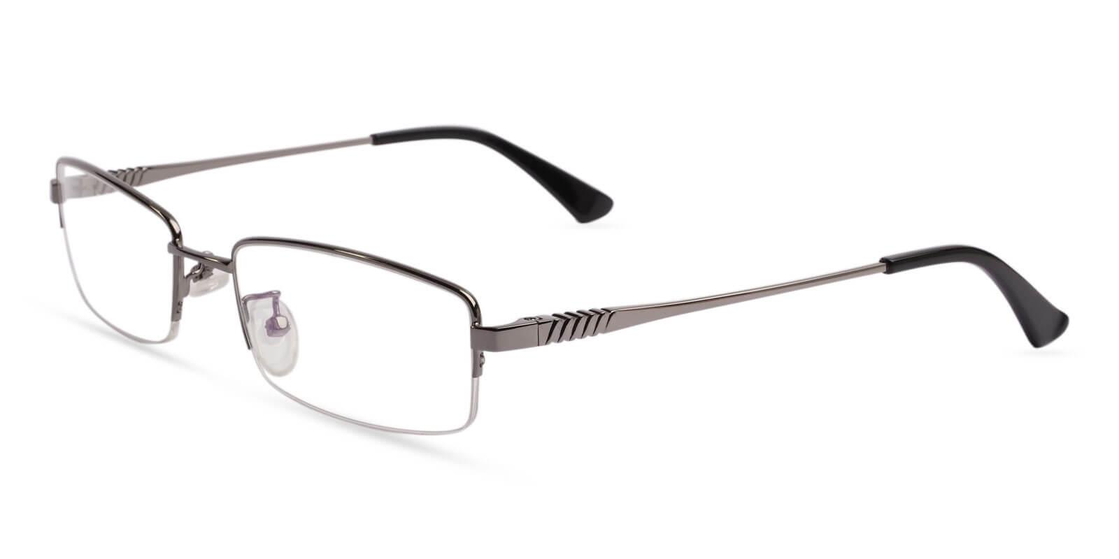 Grayson Gun Metal Eyeglasses , NosePads , SpringHinges Frames from ABBE Glasses