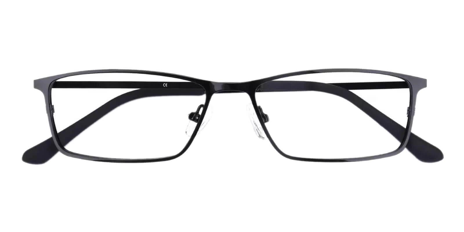 Wildersville Black Metal Eyeglasses , NosePads Frames from ABBE Glasses