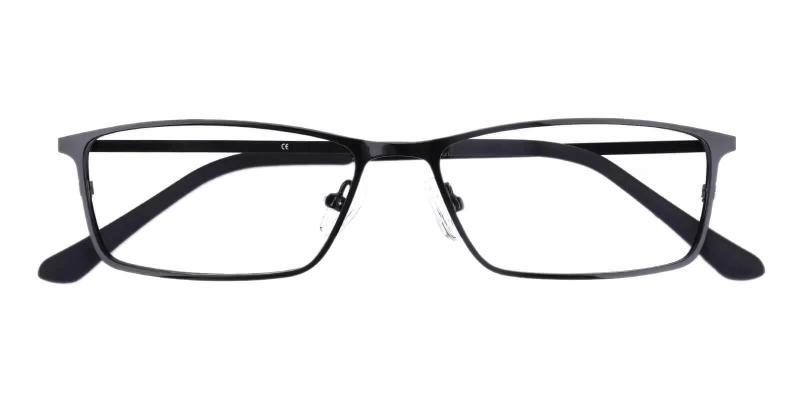 Black Wildersville - Metal Eyeglasses , NosePads