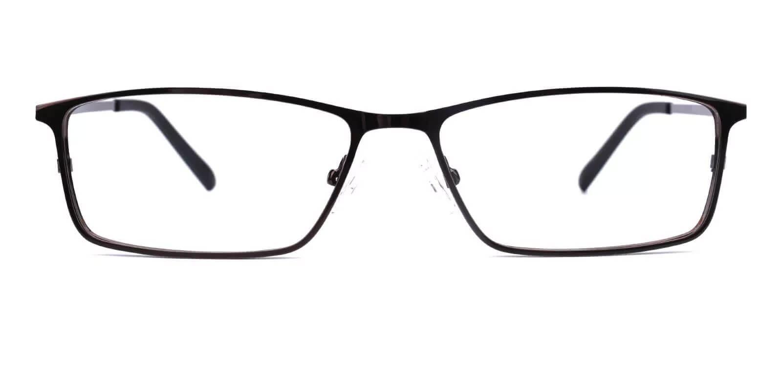 Wildersville Brown Metal Eyeglasses , NosePads Frames from ABBE Glasses