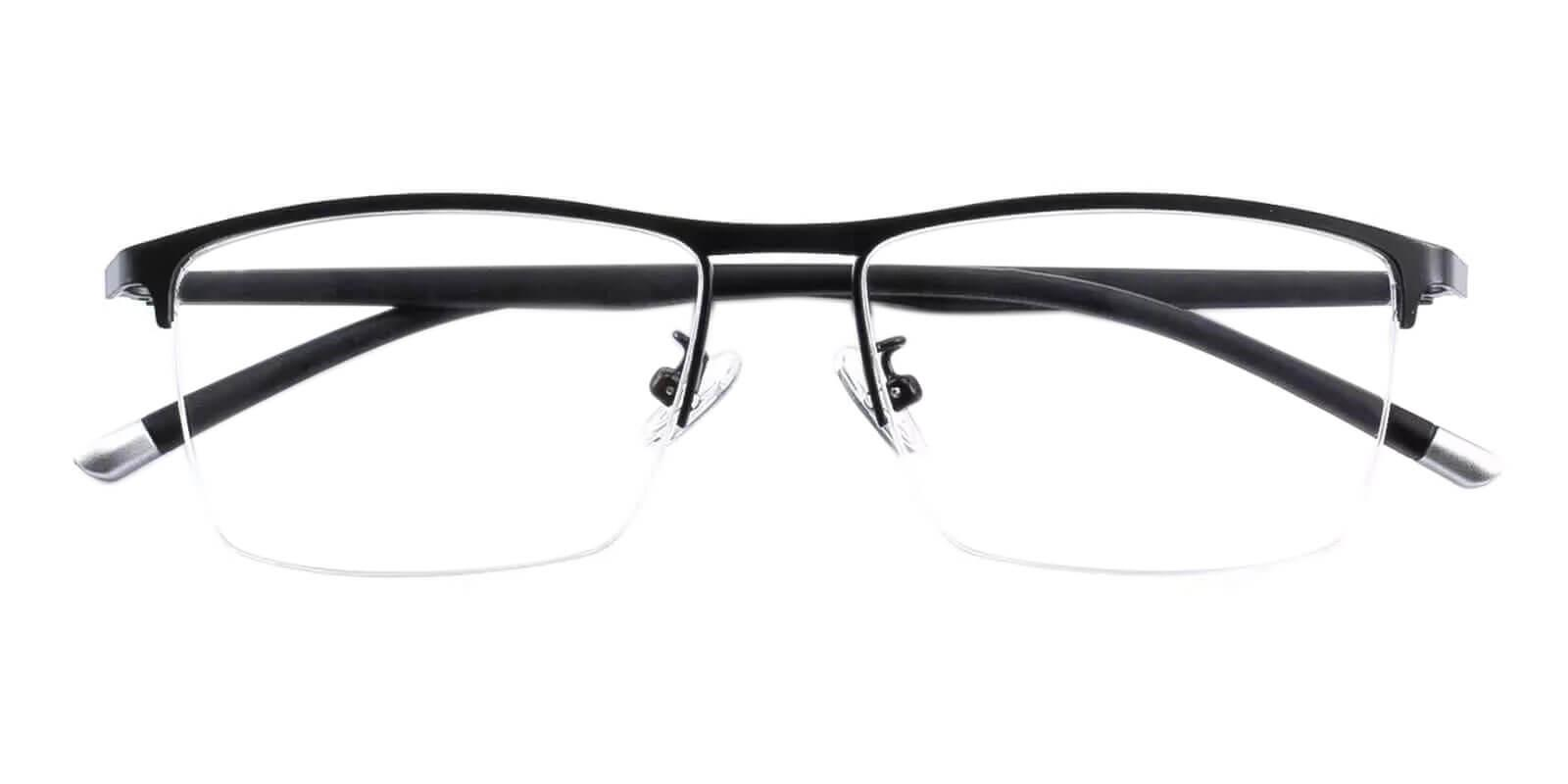 Wyatt Black Metal Eyeglasses , NosePads Frames from ABBE Glasses
