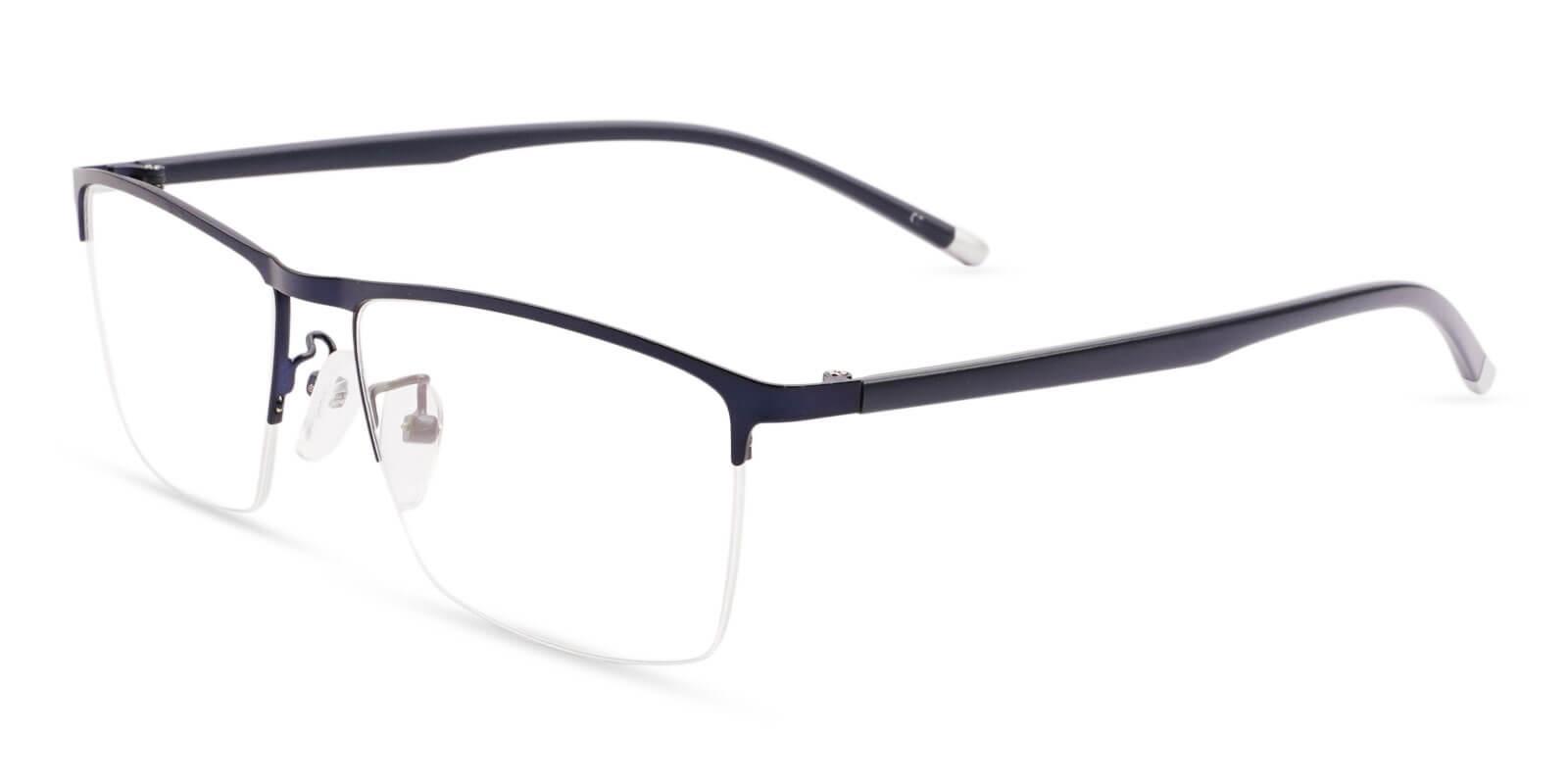 Wyatt Blue Metal Eyeglasses , NosePads Frames from ABBE Glasses