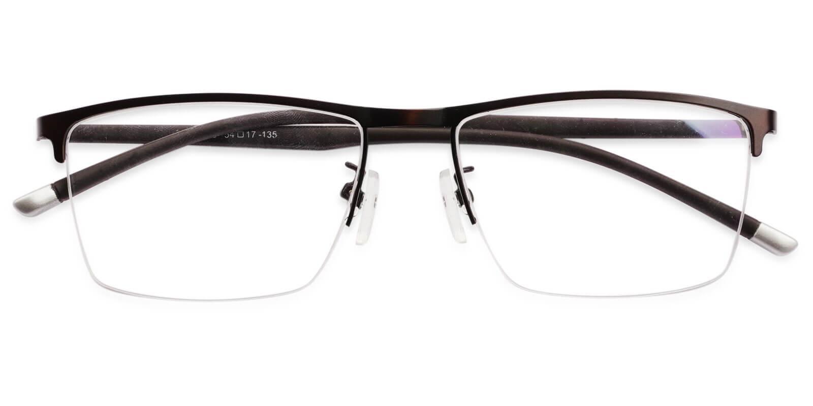 Wyatt Gun Metal Eyeglasses , NosePads Frames from ABBE Glasses