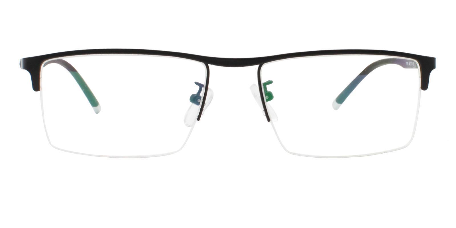 Jayden Black Metal Eyeglasses , NosePads Frames from ABBE Glasses