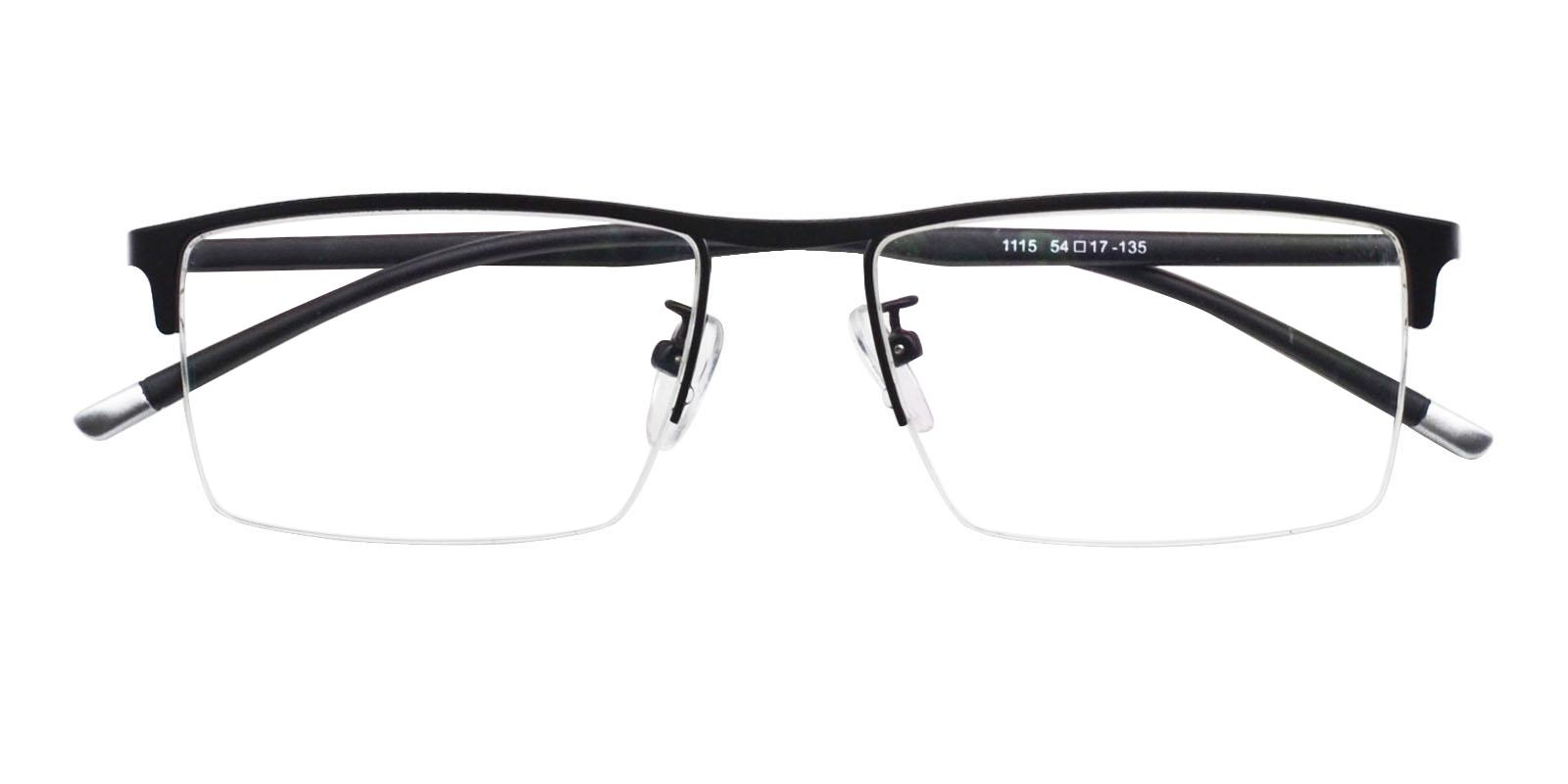 Jayden Black Metal Eyeglasses , NosePads Frames from ABBE Glasses
