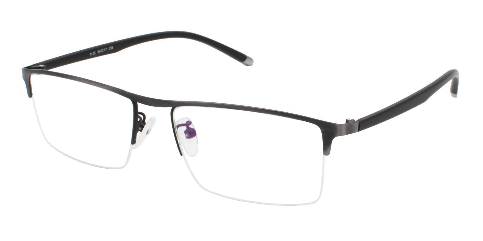 Jayden Gun Metal Eyeglasses , NosePads Frames from ABBE Glasses