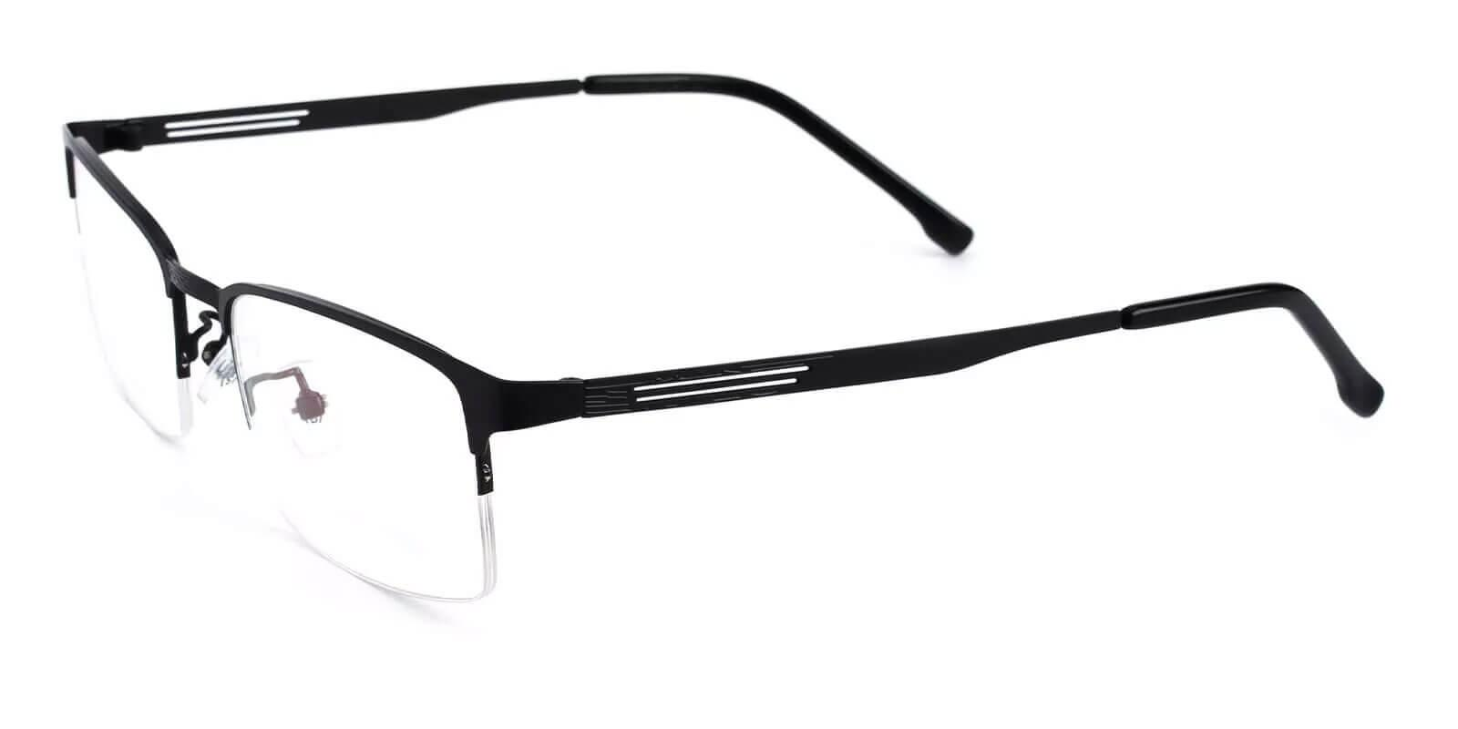 Gabriel Black Metal Eyeglasses , NosePads Frames from ABBE Glasses