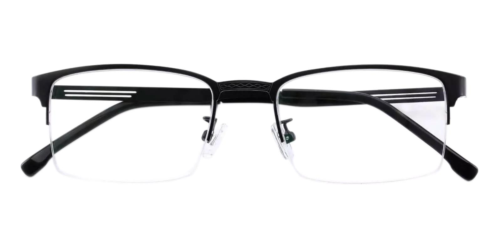 Gabriel Black Metal Eyeglasses , NosePads Frames from ABBE Glasses