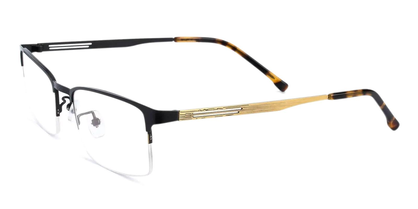 Gabriel Gold Metal Eyeglasses , NosePads Frames from ABBE Glasses