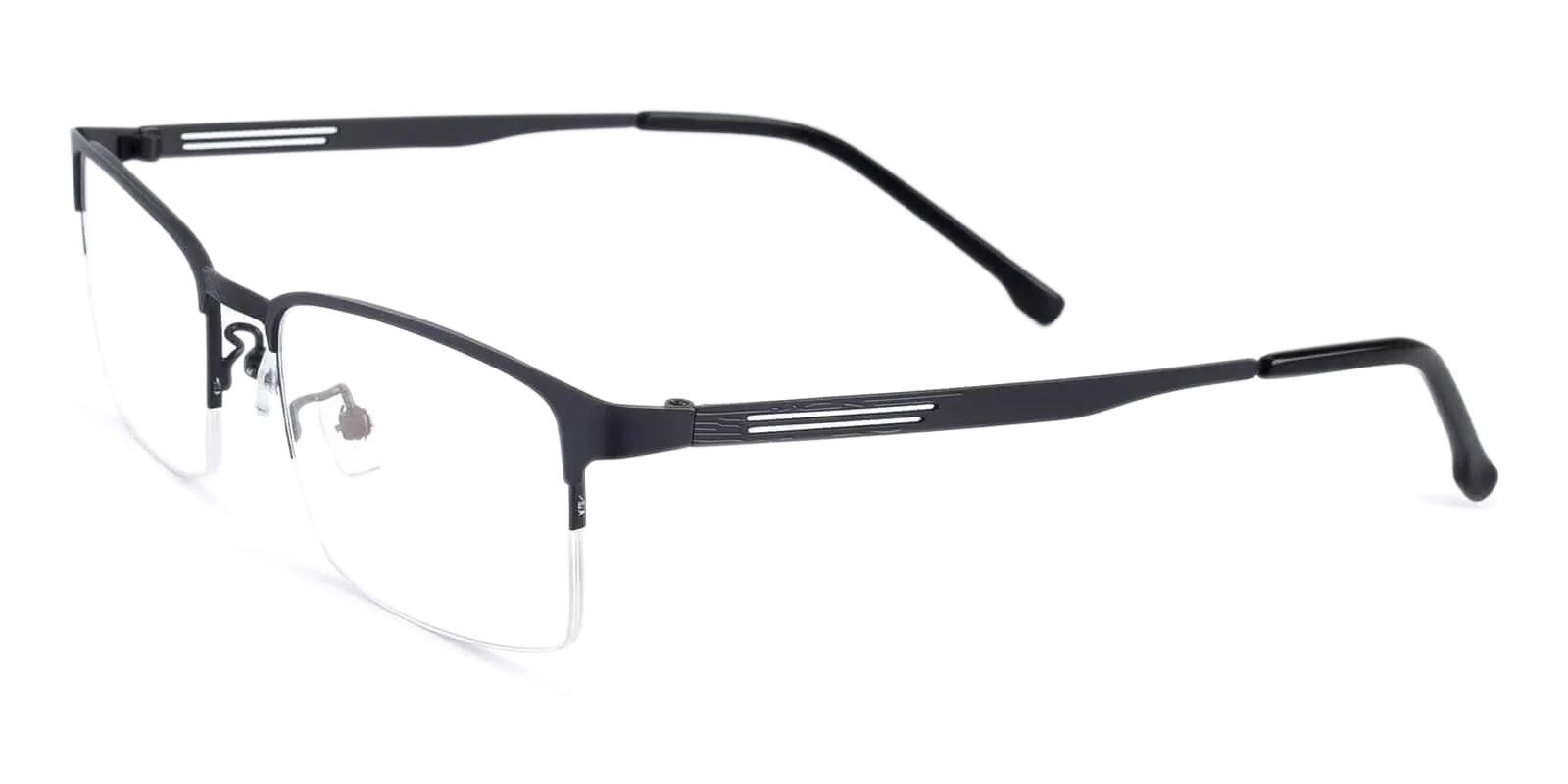Gabriel Gun Metal Eyeglasses , NosePads Frames from ABBE Glasses