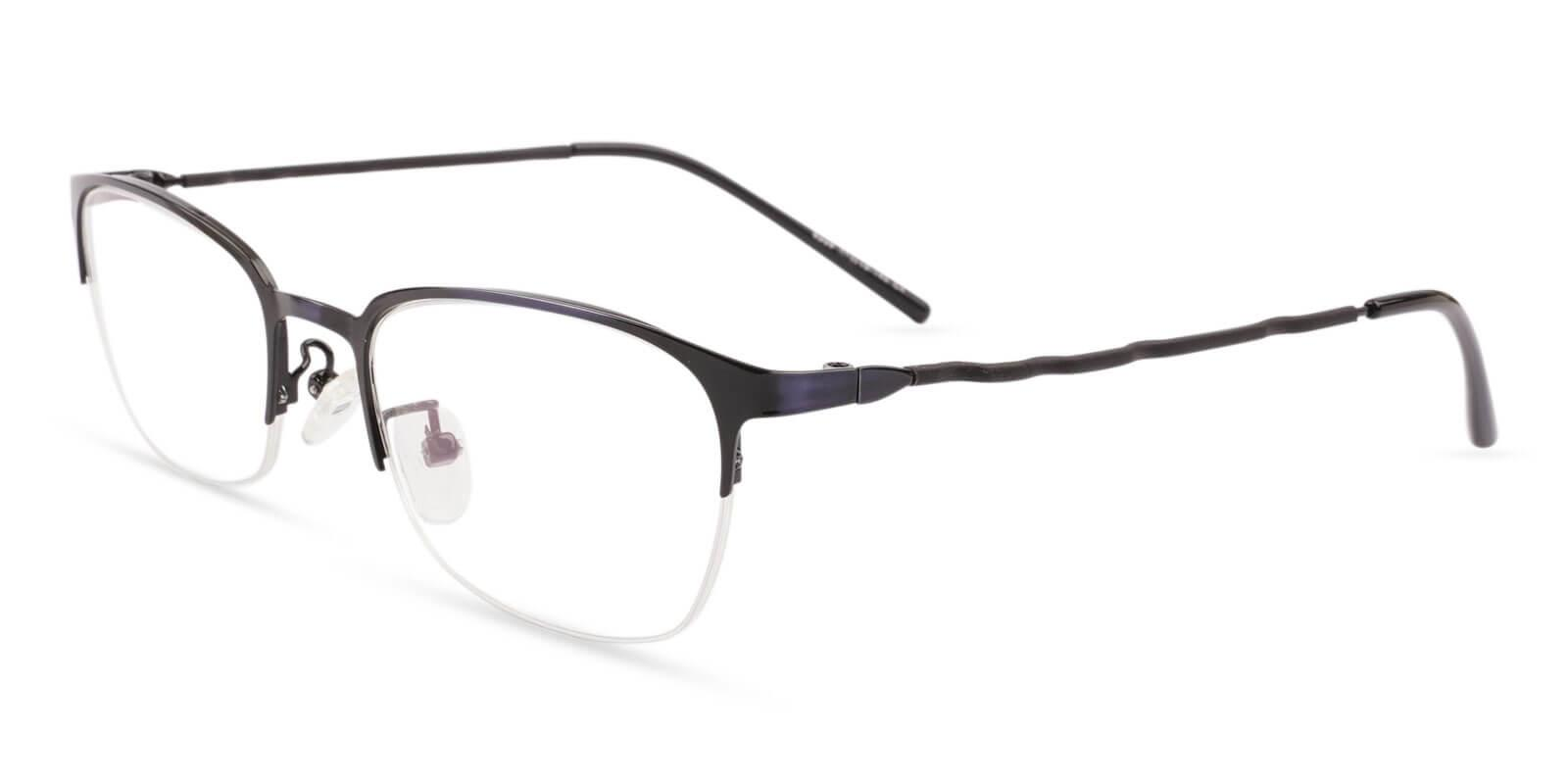 Lassiter Blue Metal Eyeglasses , NosePads Frames from ABBE Glasses