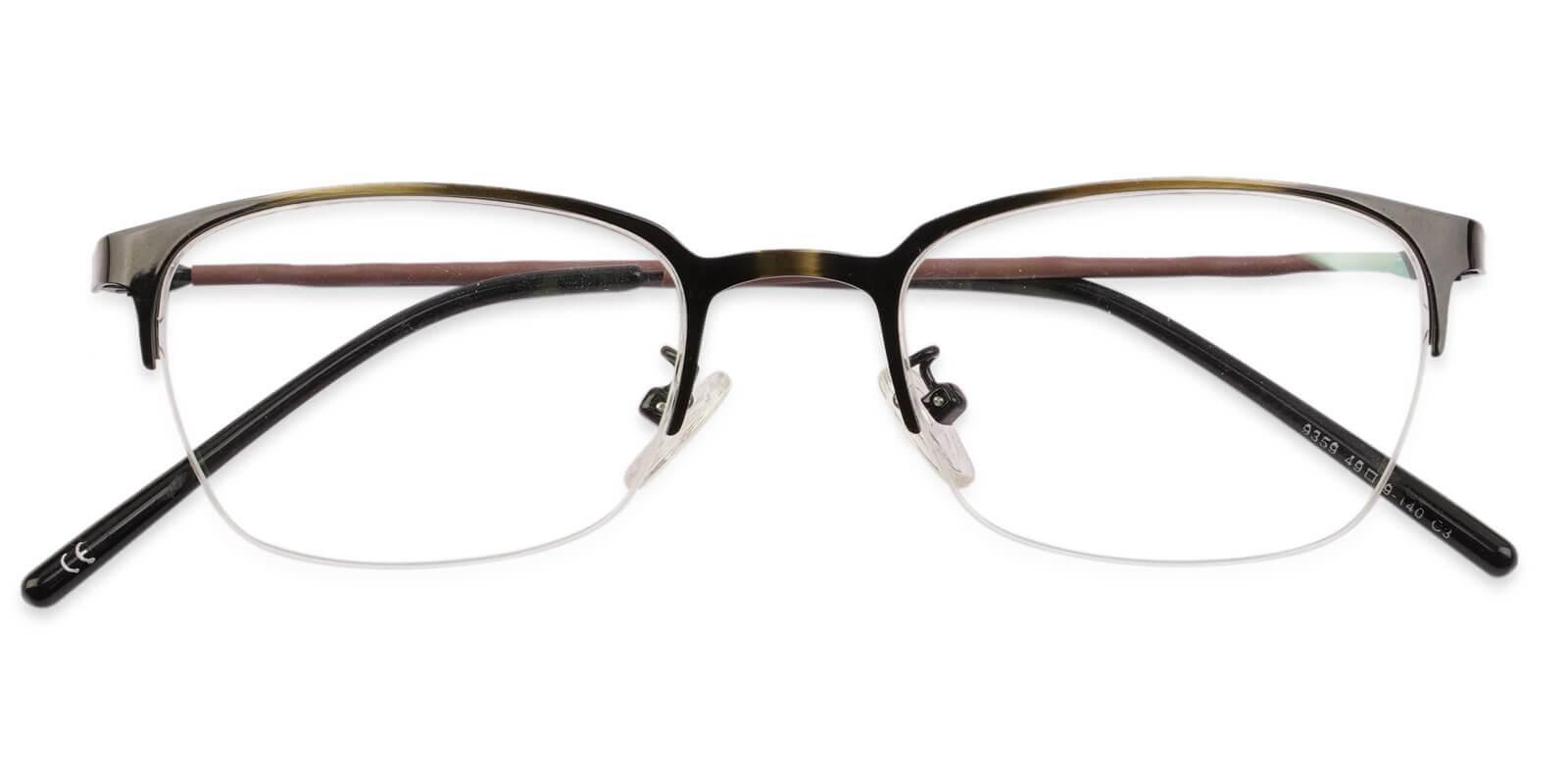 Lassiter Brown Metal NosePads , Eyeglasses Frames from ABBE Glasses
