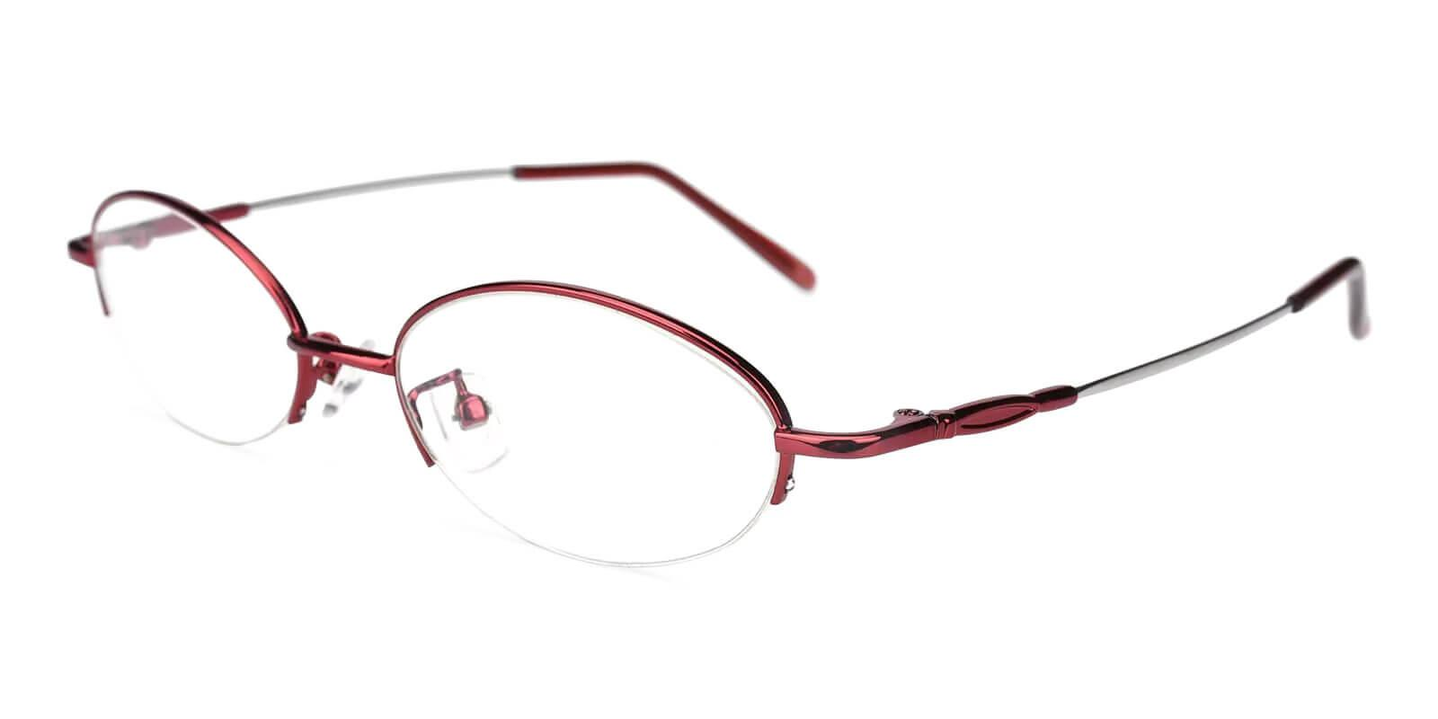 Lily Red Metal Eyeglasses , NosePads Frames from ABBE Glasses