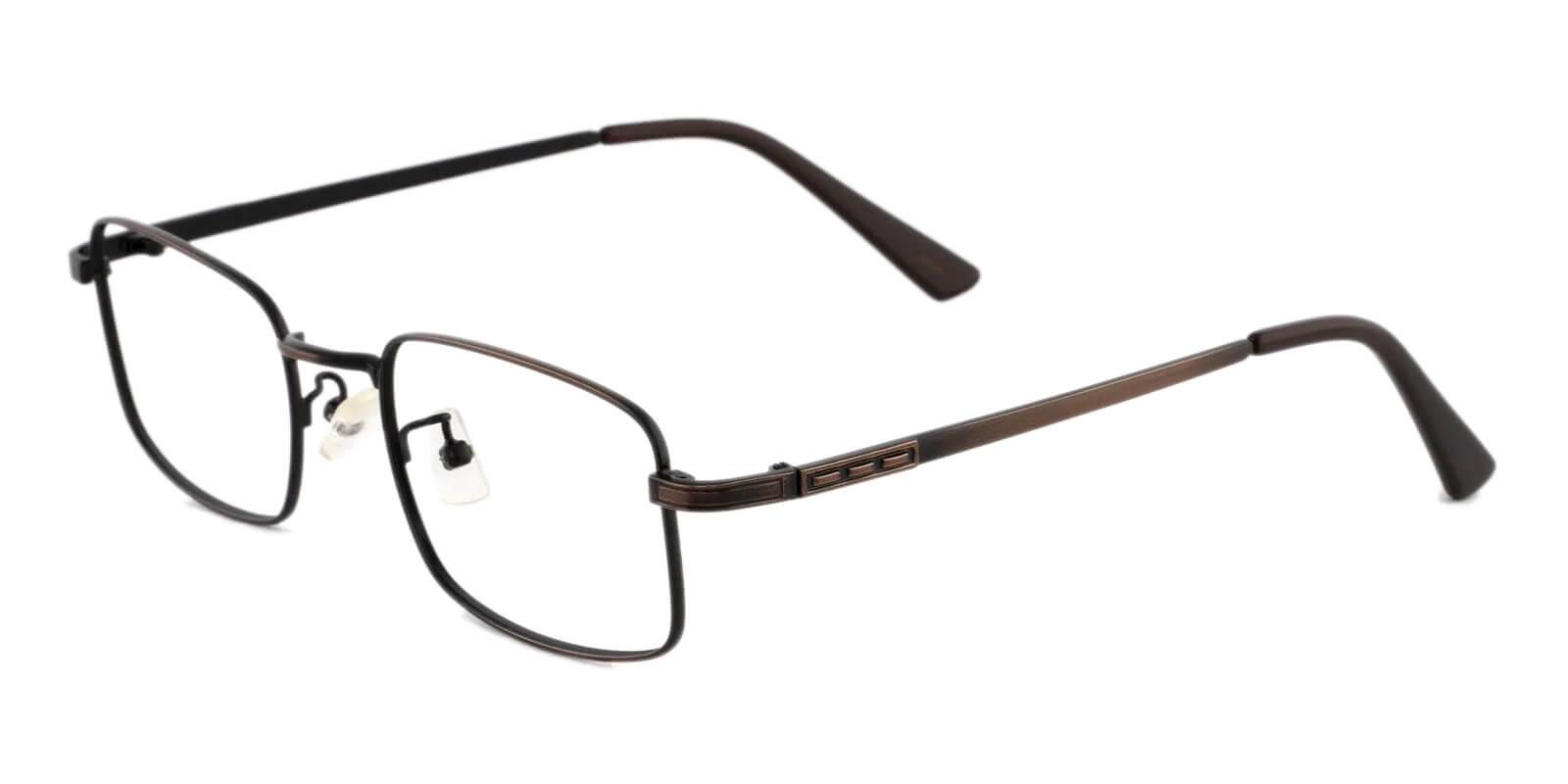 Owen Brown Metal Eyeglasses , NosePads Frames from ABBE Glasses