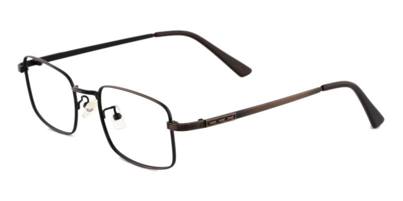 Brown Owen - Metal Eyeglasses , NosePads