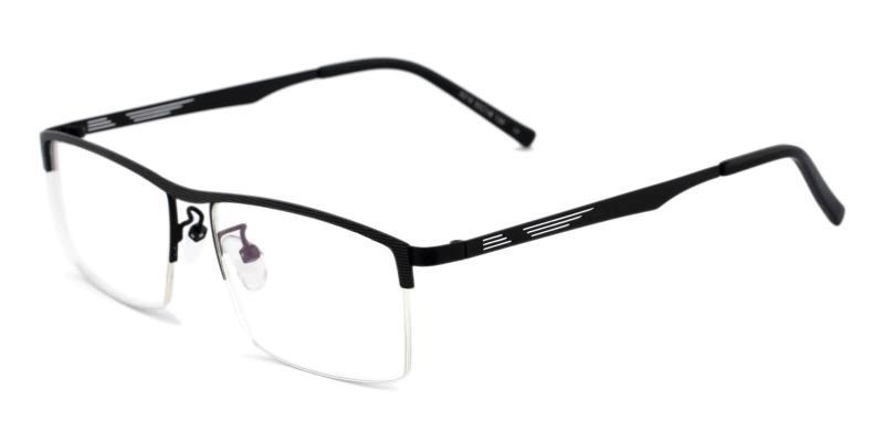 Black Henry - Metal Eyeglasses , NosePads