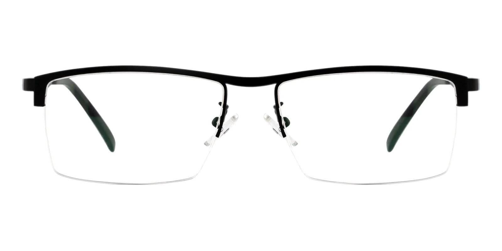 Henry Black Metal Eyeglasses , NosePads Frames from ABBE Glasses